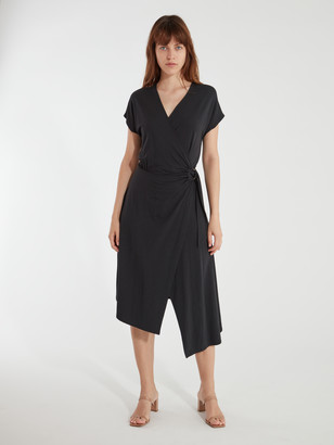 Joie Anjula Asymmetrical Midi Wrap Dress