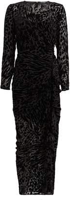 Veronica Beard Lala Velvet Leopard Devore Dress