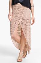 Mimichica Mimi Chica Crochet Faux Wrap Maxi (Juniors) Tan Large