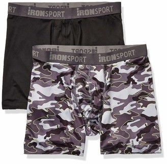 Iron Man IRONMAN Men's Multipack IRONSPORT with Silver 6'' Boxer Brief