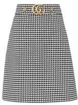 Gucci Embellished wool-blend skirt