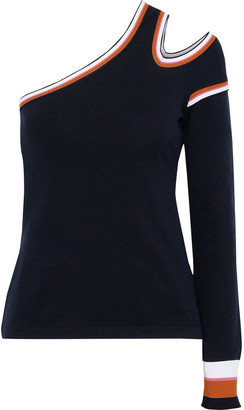 Peter Pilotto One-shoulder Cutout Stretch-knit Sweater