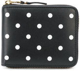 Comme des Garcons polka dot printed wallet - unisex - Calf Leather - One Size