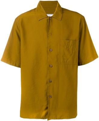 Ami Paris Camp Collar Short Sleeve Shirt With Chest Pocket