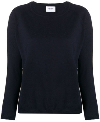Snobby Sheep Silk And Cashmere Blend Stripe-detail Raglan-sleeves Pullover