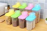 Home-organizer Tech 4-Piece Set Airtight Plastic Storage Canister Set, Food Saver Container