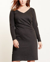 Lauren Ralph Lauren Plus Size Houndstooth Ponte Dress