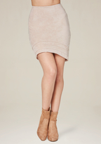 Bebe Faux Suede Miniskirt