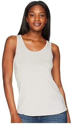 Prana Foundation Scoop Neck Tank Top (White) Women's Sleeveless