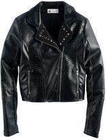 Disney D-signed Descendants 2 Girls 7-16 Studded Textured Faux-Leather Jacket