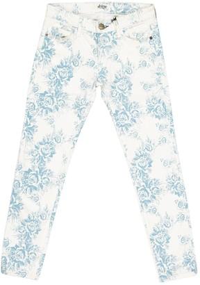 Shine White Cotton Jeans for Women