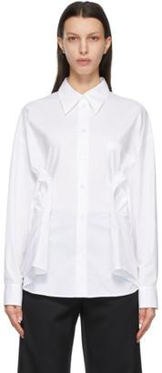 MM6 MAISON MARGIELA White Cinch Waist Shirt