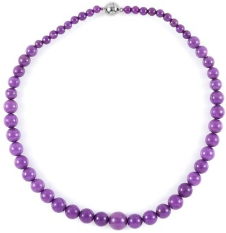 """Shop Lc 925 Sterling Silver Beads Phosphosderite Beaded Necklace Size 18"""" - Size 18''"""