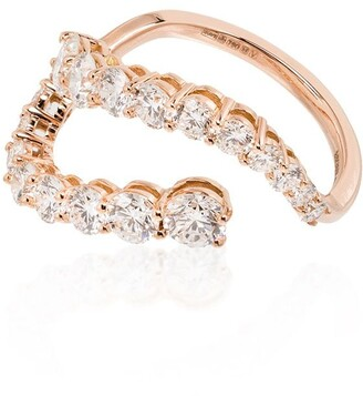 Melissa Kaye Aria Skye 18K rose gold diamond ring