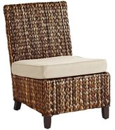 Pier 1 Imports Graciosa Mocha Brown Wicker Armless Chair
