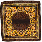 Versace Ornate Print Silk Handkerchief w/ Tags