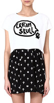 MINI CREAM I.T Creamskull crop top and dress
