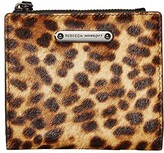 Rebecca Minkoff Bifold Snap Wallet (Leopard) Handbags