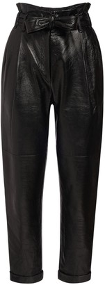 Philosophy di Lorenzo Serafini High Waist Faux Leather Pants
