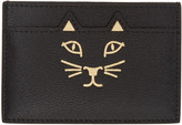 Charlotte Olympia Black Feline Card Holder