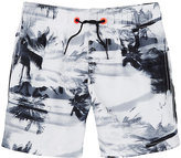 Sundek Palm Tree-Print Swim Trunks