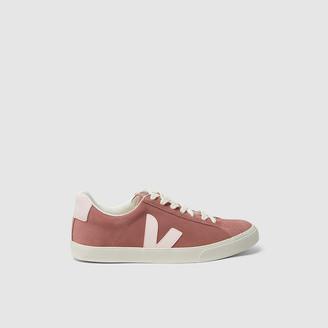 Veja Pink Esplar Pink Suede Sneakers Size FR 35