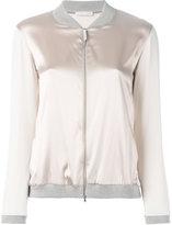 Fabiana Filippi metallic bomber jacket - women - Cotton/Spandex/Elastane/Acetate/Polybutylene Terephthalate (PBT) - 48
