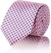 Barneys New York Men's Square-Print Silk Satin Necktie