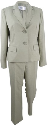 Le Suit LeSuit Women's Petite Size Melange Crepe Two Button Pant Suit