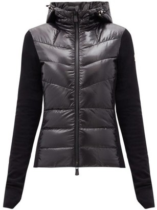 MONCLER GRENOBLE Logo-patch Down-filled Soft-shell Hooded Jacket - Black