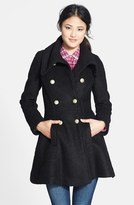 GUESS Petite Women's Double Breasted Boucle Coat