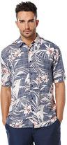 Cubavera Big & Tall Short Sleeve Tropical Print