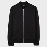 Paul Smith Men's Black Organic-Cotton Jersey Bomber Jacket