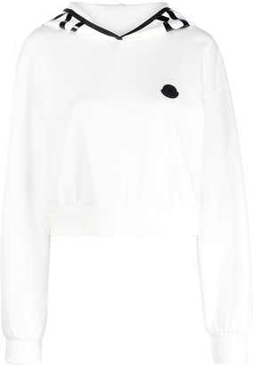 Moncler Cropped Jersey Hoodie