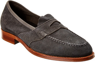 Dunhill Saddle Suede Loafer