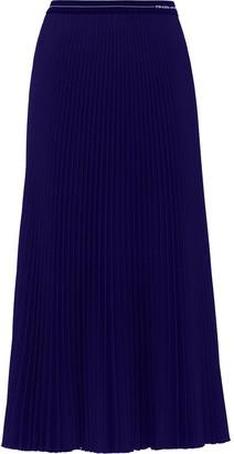 Prada Logo Waistband Skirt