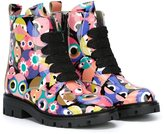 Fendi Bag Bugs boots - kids - Leather/rubber - 36