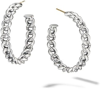 David Yurman Belmont Curb Link Hoop Earrings