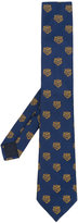 Gucci tiger's head patterned tie - men - Silk/Cupro - One Size