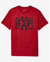 Express red striped monogram graphic t-shirt