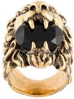 Gucci lion crystal ring