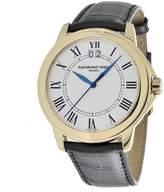 Raymond Weil Men's 5476-P-00300 Tradition Round Case Gold Tone Watch