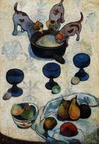 Barts B-Arts Gauguin Paul Still Life, Fete Gloanec 100% Hand Painted Oil Paintings Reproductions 30X40 Inch