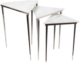 Surya Westover Stainless Steel Side Tables (Set of 3)