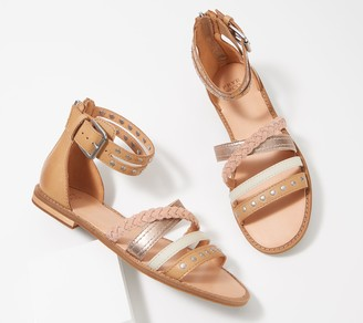 frye & co. Mixed Strap Sandals - Evie Stud