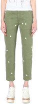 Stella McCartney Floral tapered high-rise jeans