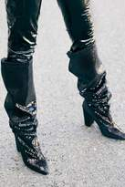 boohoo Premium Ems Slouchy Sequin Over the Knee Boots
