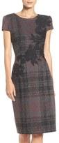 Betsey Johnson Embroidered Knit Sheath Dress