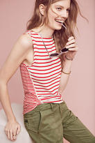Three Dots Terry Striped Tank Top