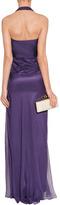 Alberta Ferretti Lilac Silk Gown